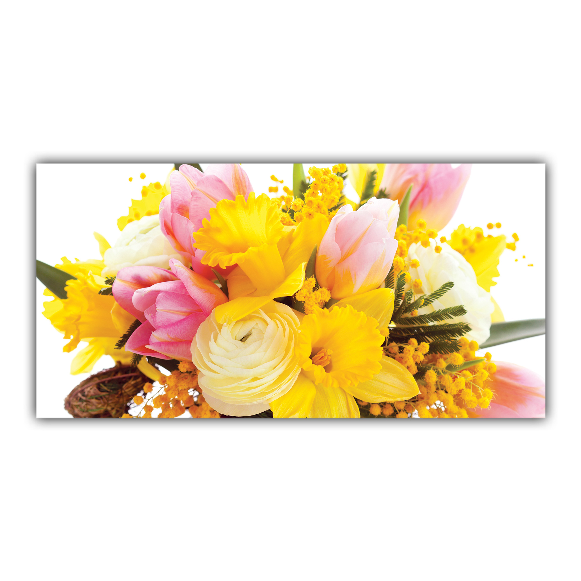 Bouquet Tulipes Roses Narcisses Mimosa Jonquilles