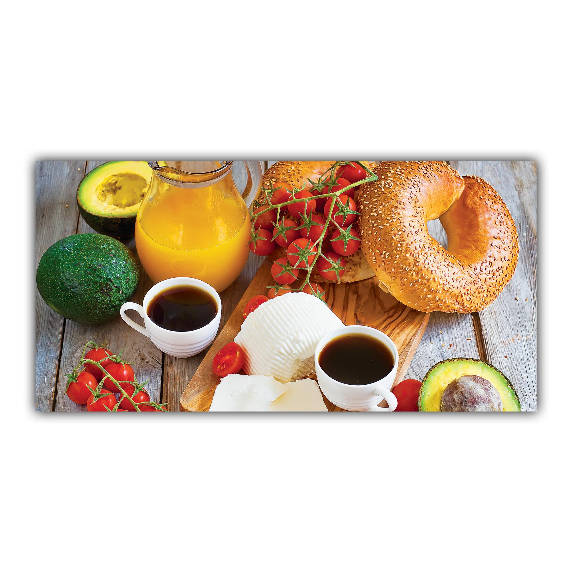 Petit d jeuner caf jus d 39 orange plaque imprim e pour - Pelure d orange pour parfumer ...
