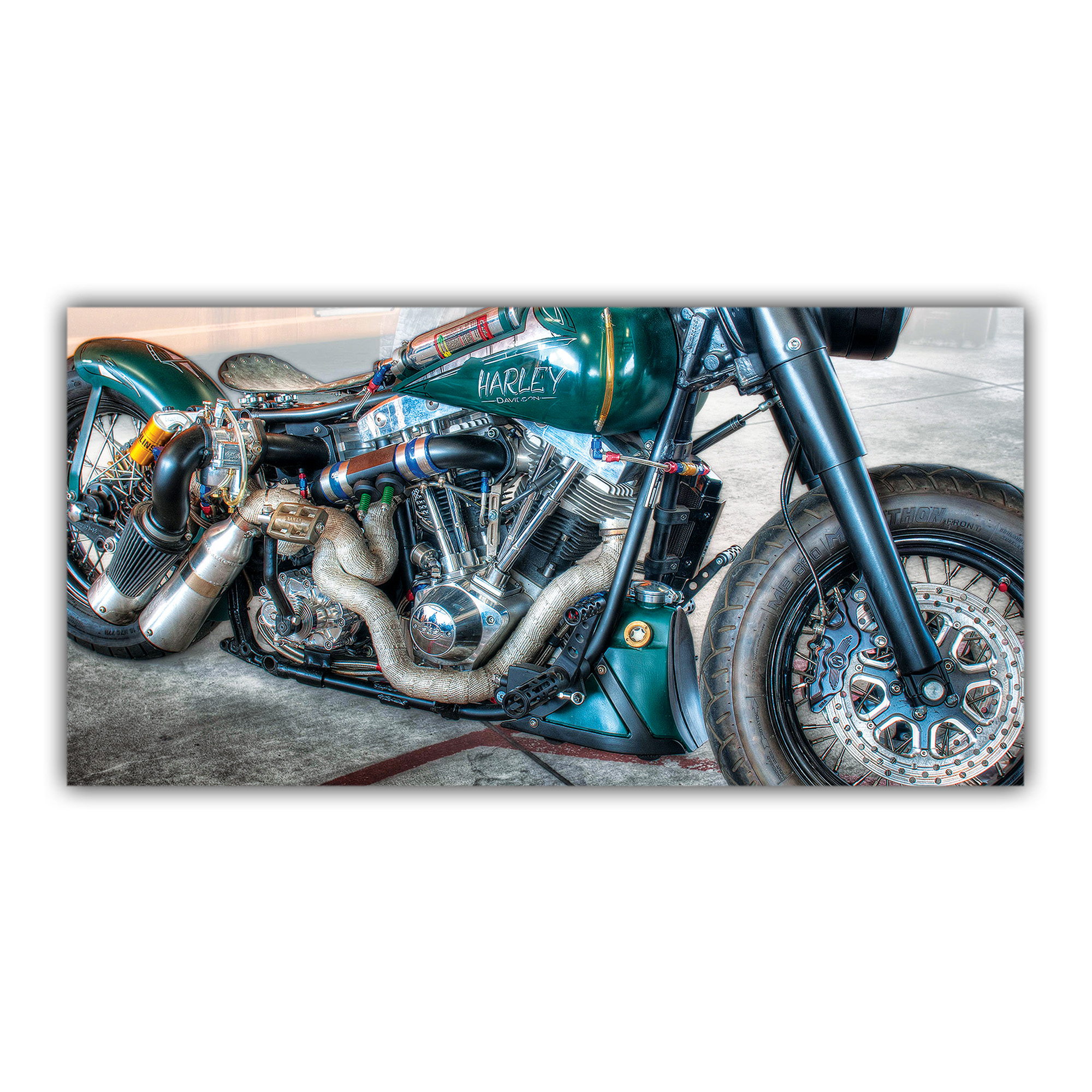 harley davidson r tro custom plaque imprim e pour votre d coration int rieure. Black Bedroom Furniture Sets. Home Design Ideas