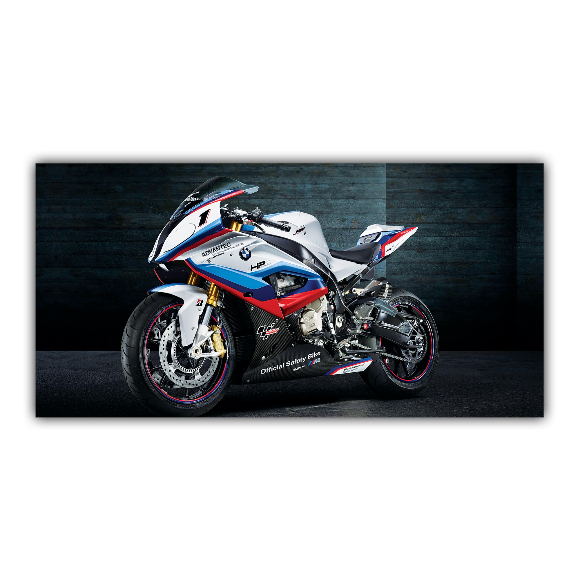 bmw sportive s1000 rr plaque imprim e pour votre d coration. Black Bedroom Furniture Sets. Home Design Ideas