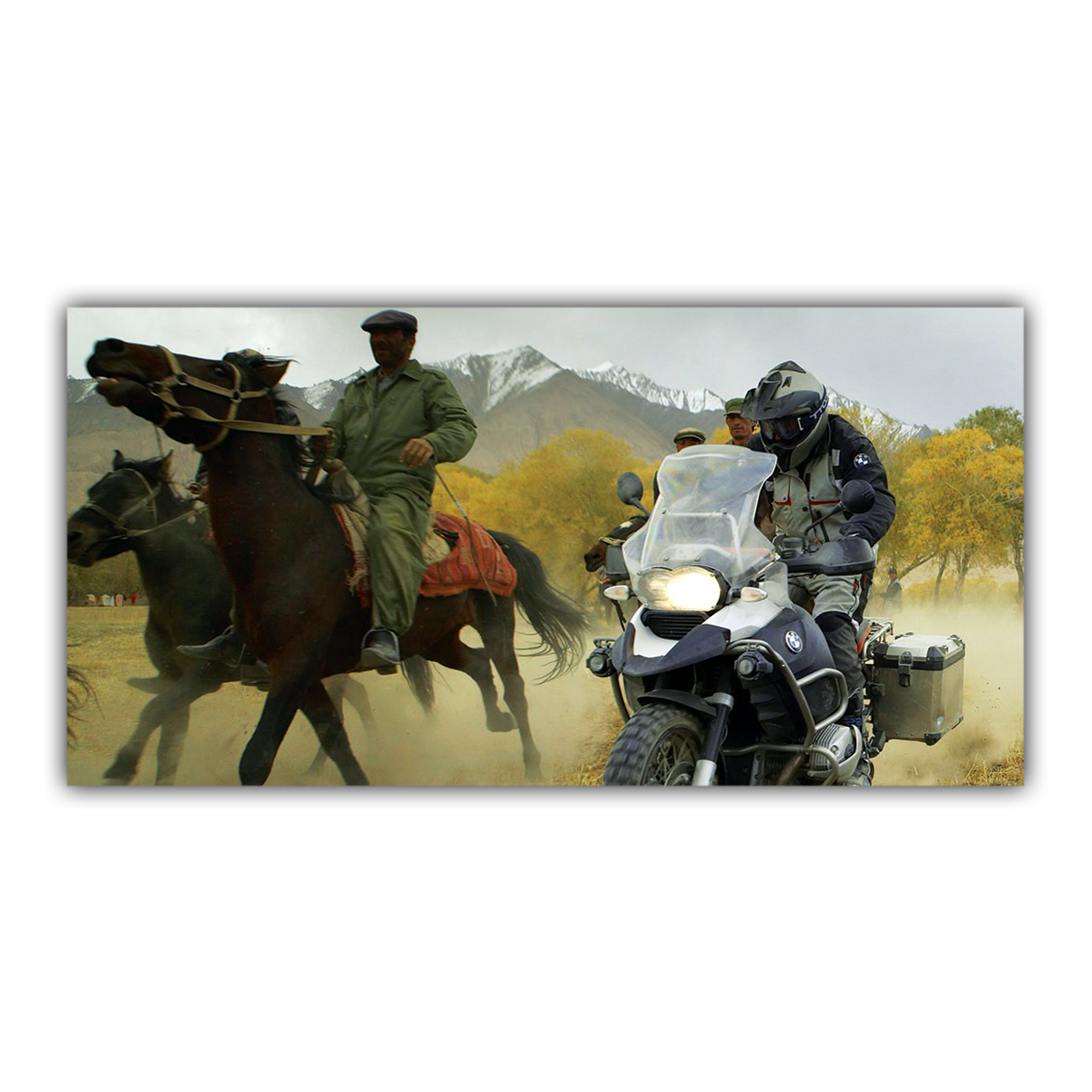 BMW 1200 GS Trail Nomades Cavaliers Chevaux