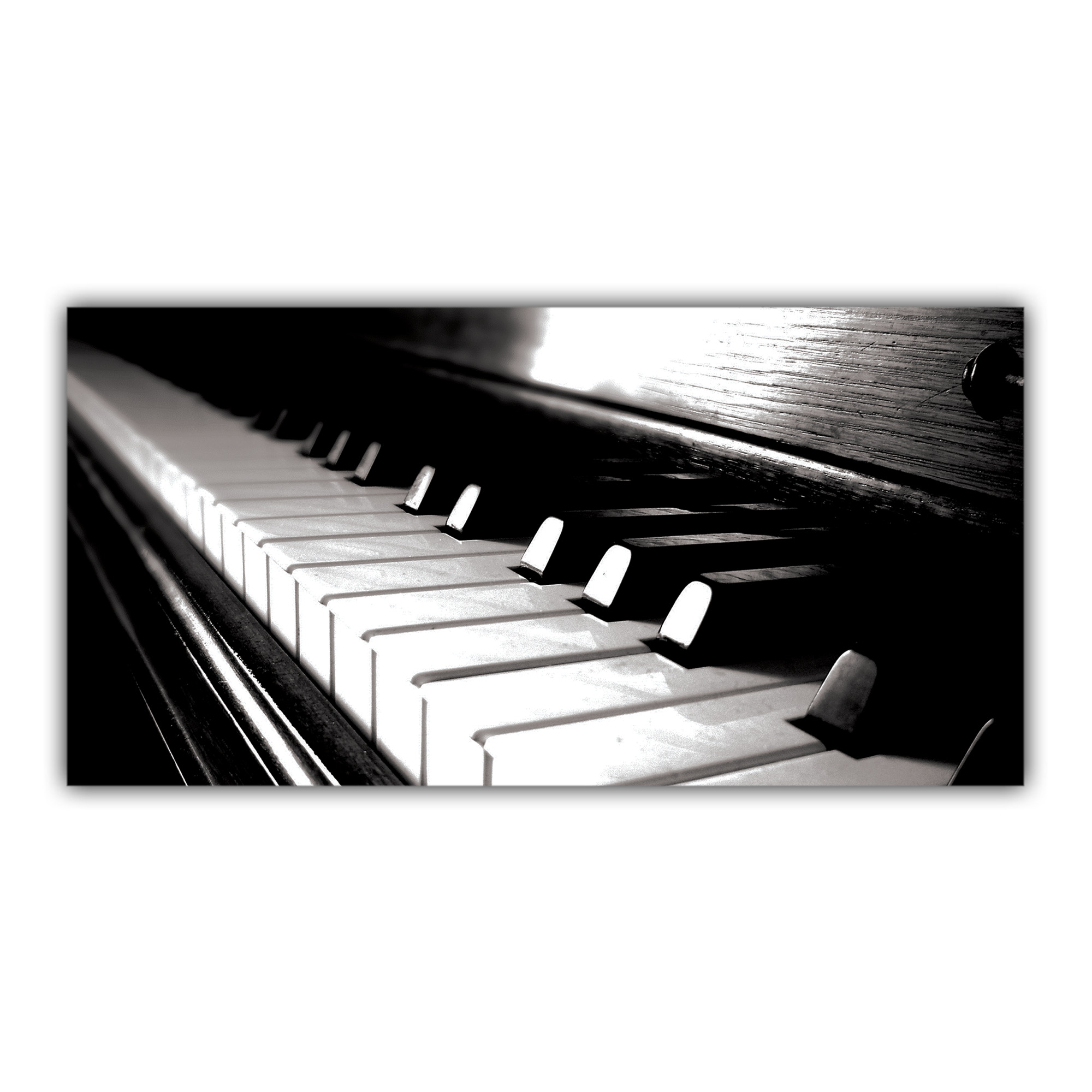 touches piano noir et blanc plaque imprim e pour votre d coration. Black Bedroom Furniture Sets. Home Design Ideas