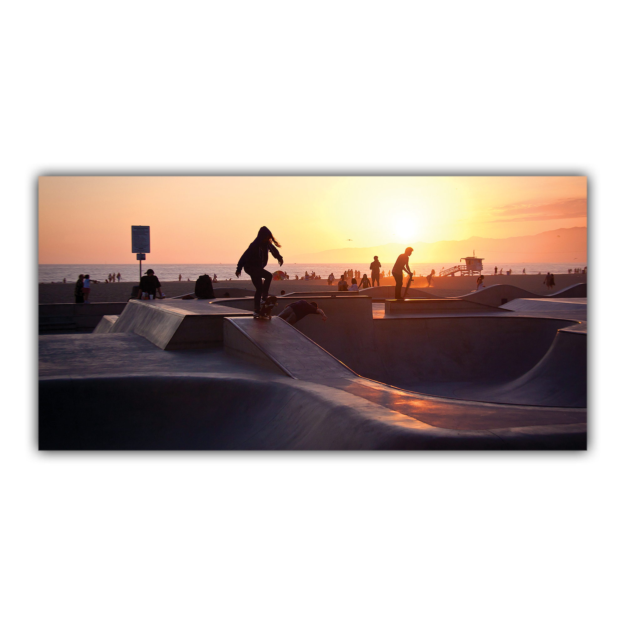 Skate Parc Venice Beach Los Angeles Californie USA Soleil