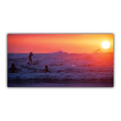 Surf Vague Océan Glisse Coucher de Soleil