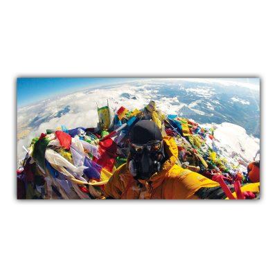 Alpiniste Sommet du Monde Drapeaux