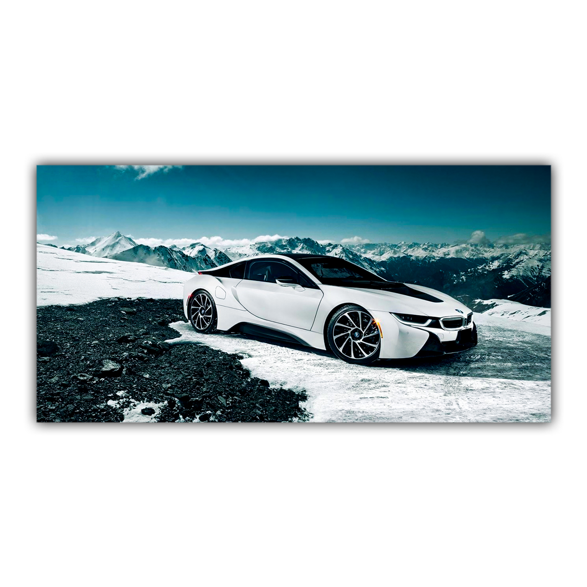 bmw lectrique i8 paysage montagne neige. Black Bedroom Furniture Sets. Home Design Ideas