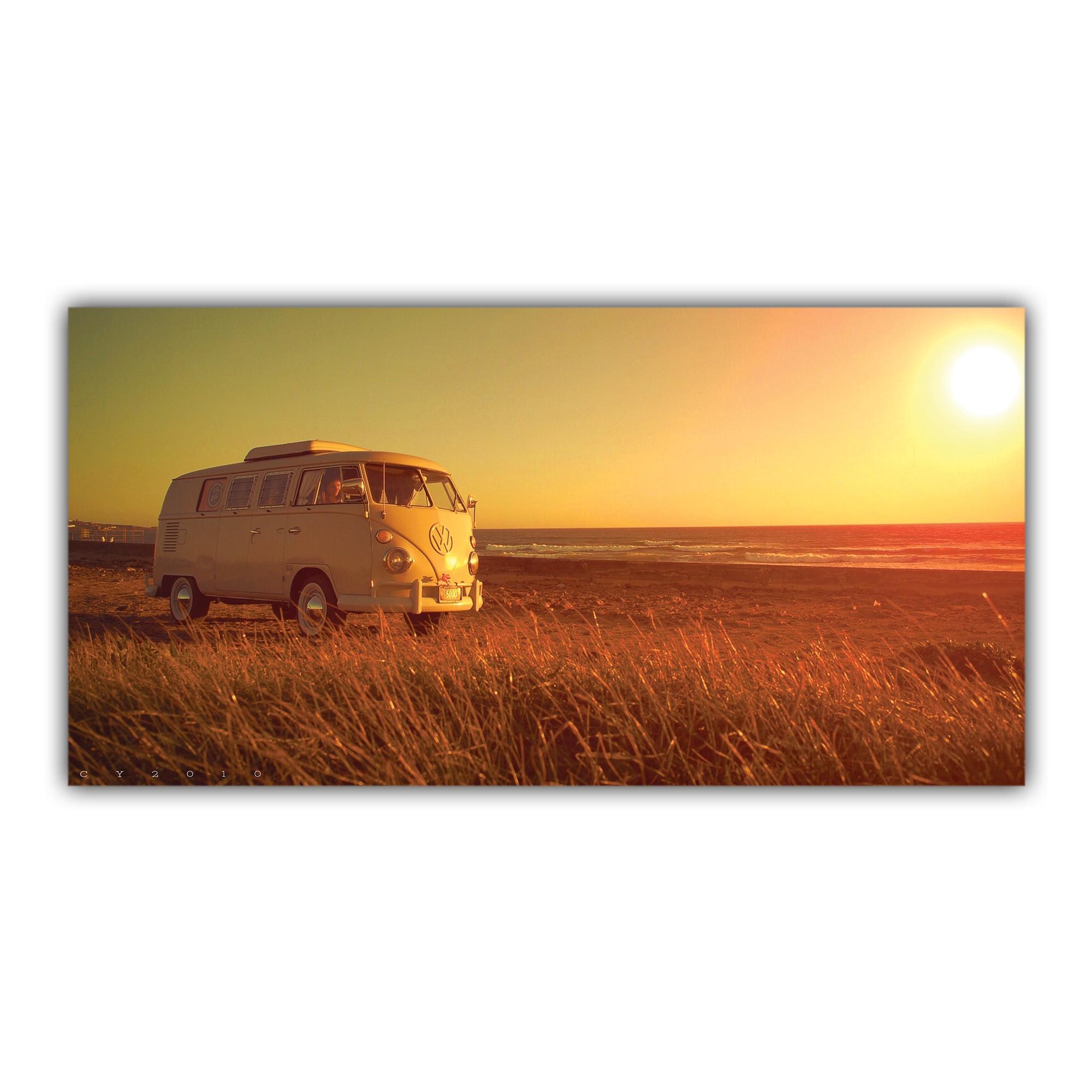 Combi Transporter Volkswagen Couché de Soleil