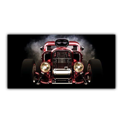 Roadster Voiture Classique Rétro Custom Américaine Rouge