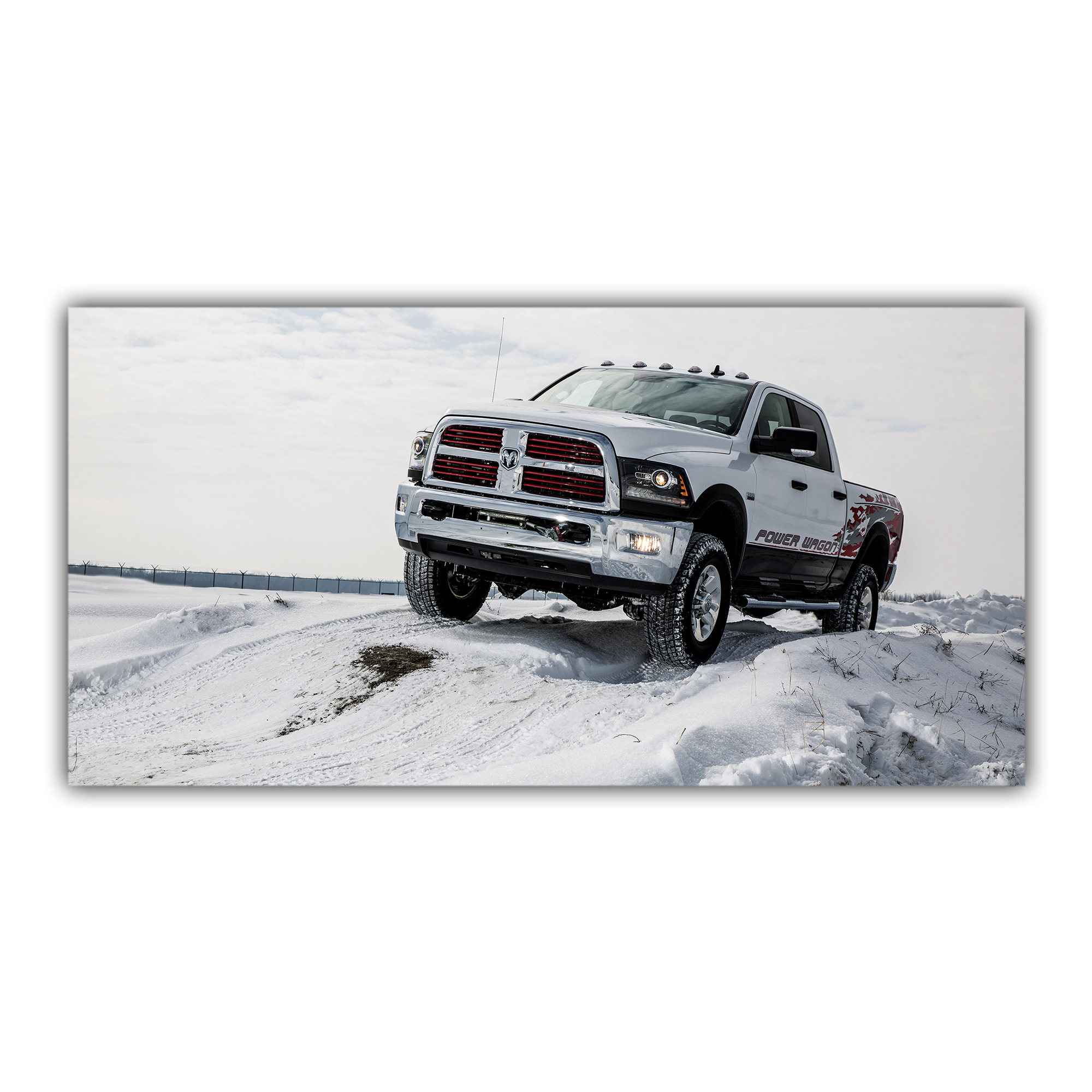 Pick-up Power Dodge 4x4 Montagne Neige