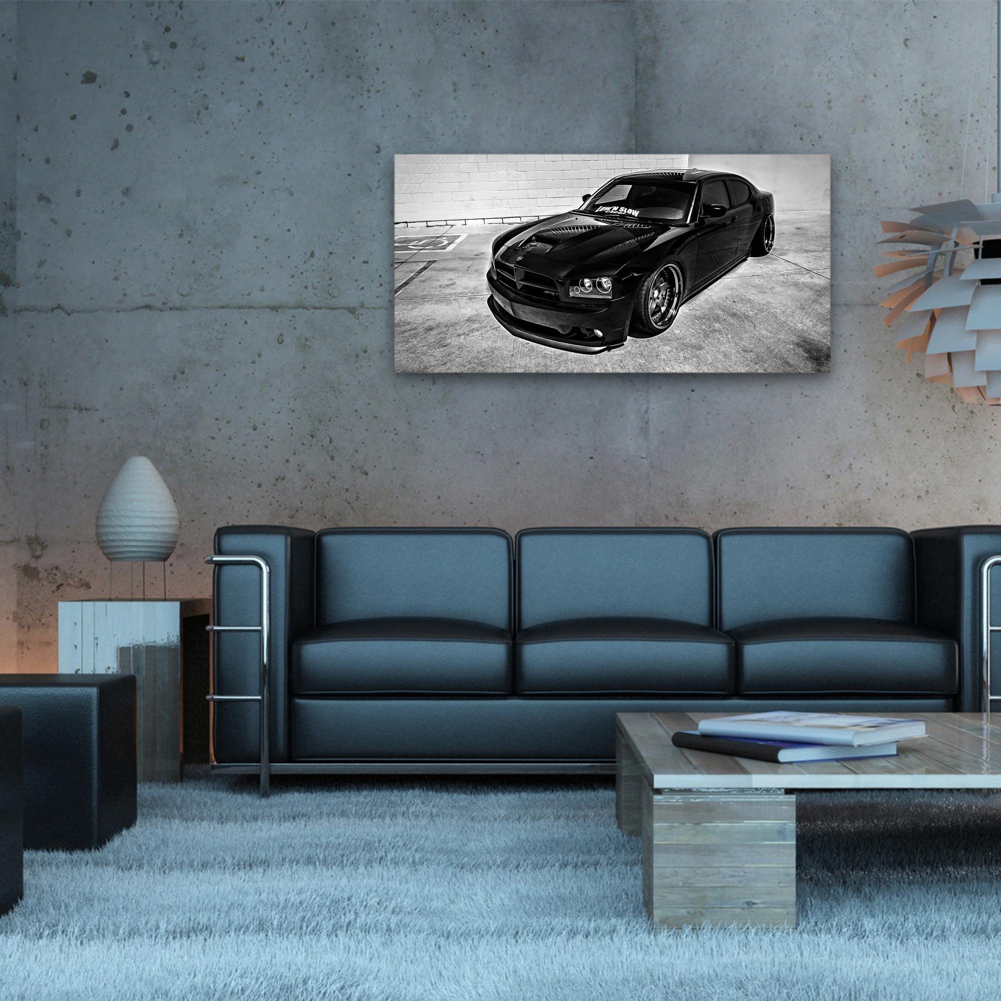 charger dodge noir voiture am ricaine arimaje. Black Bedroom Furniture Sets. Home Design Ideas