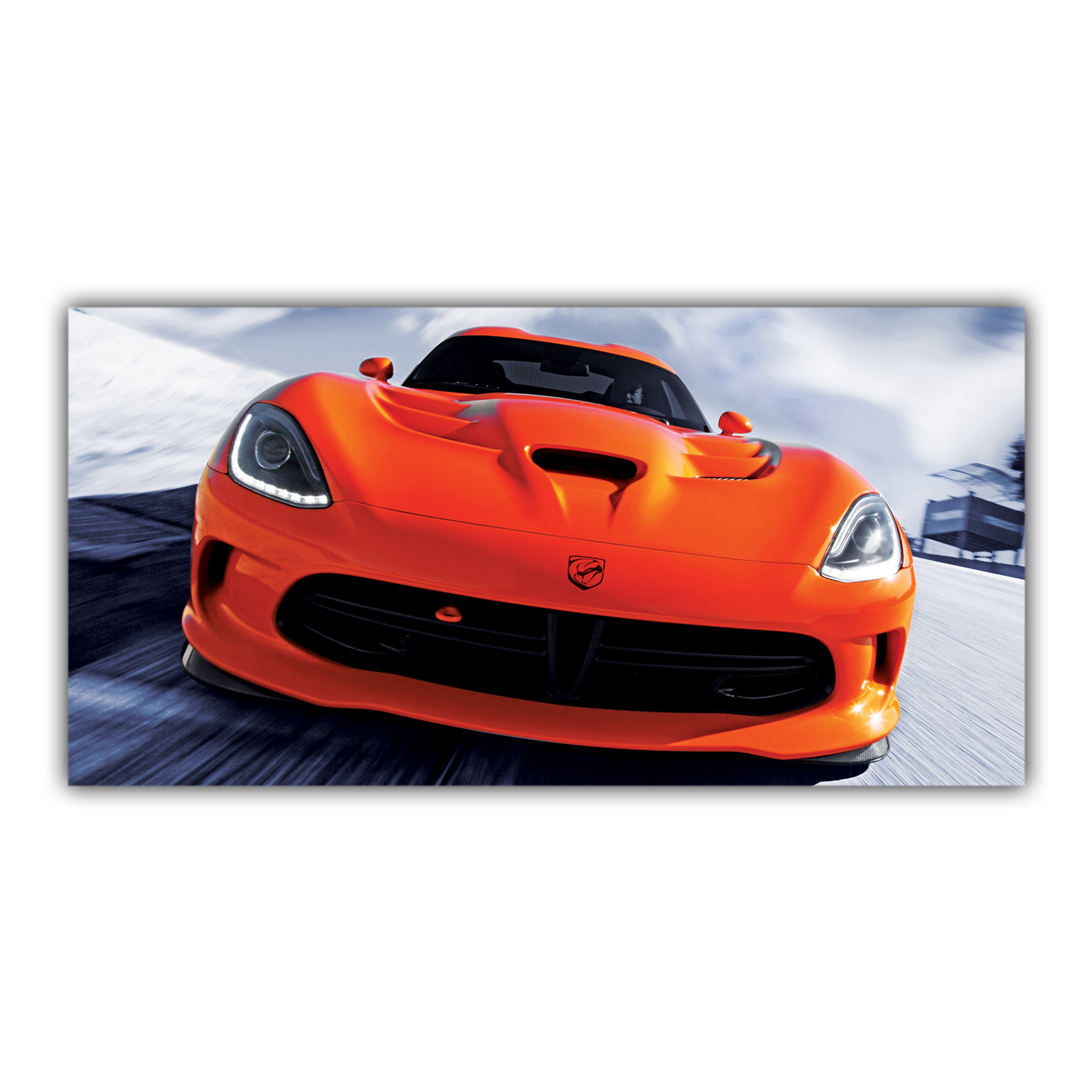 Viper SRT Dodge Orange Sport Voiture Américaine