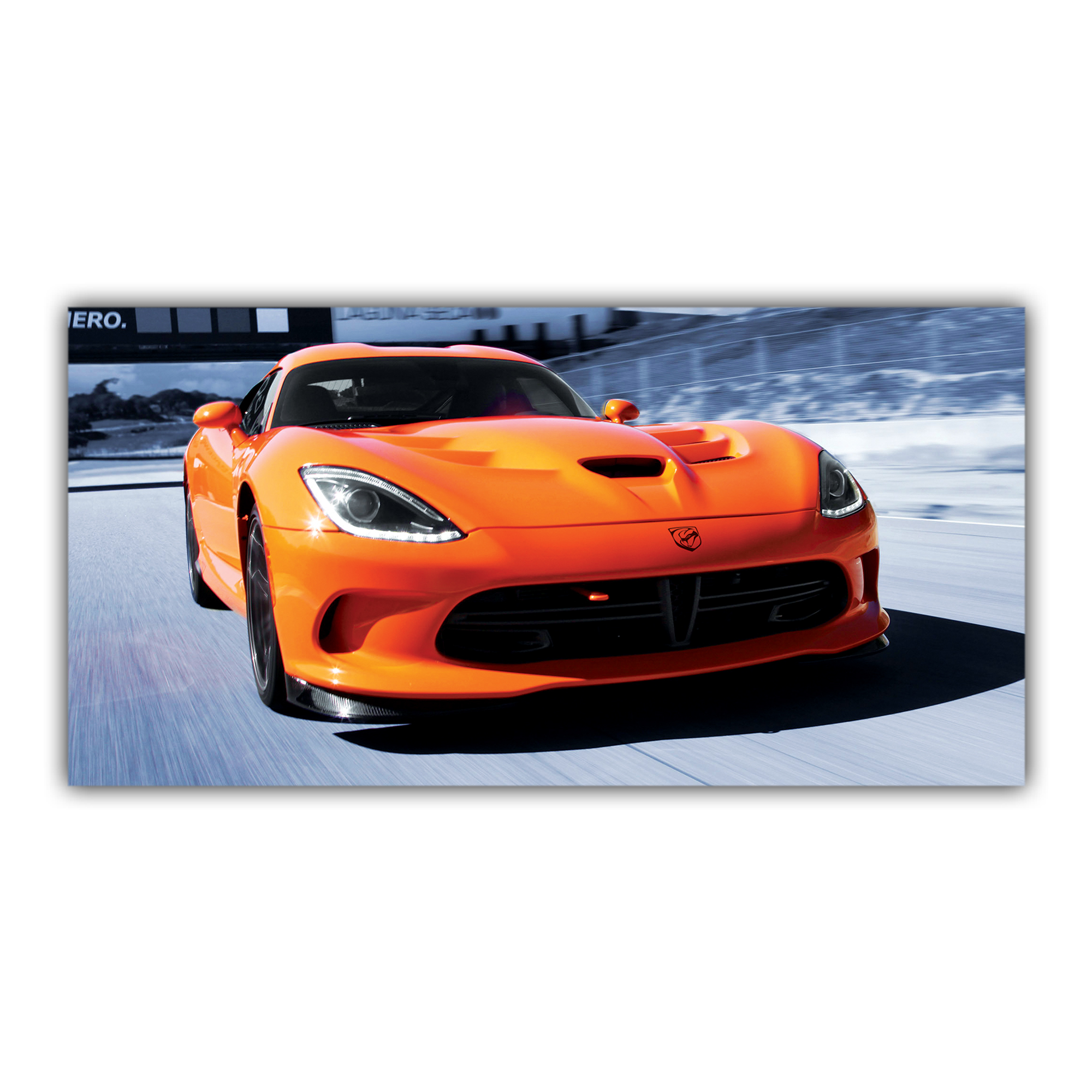 Viper SRT Dodge Orange Sport Voiture Américaine Circuit
