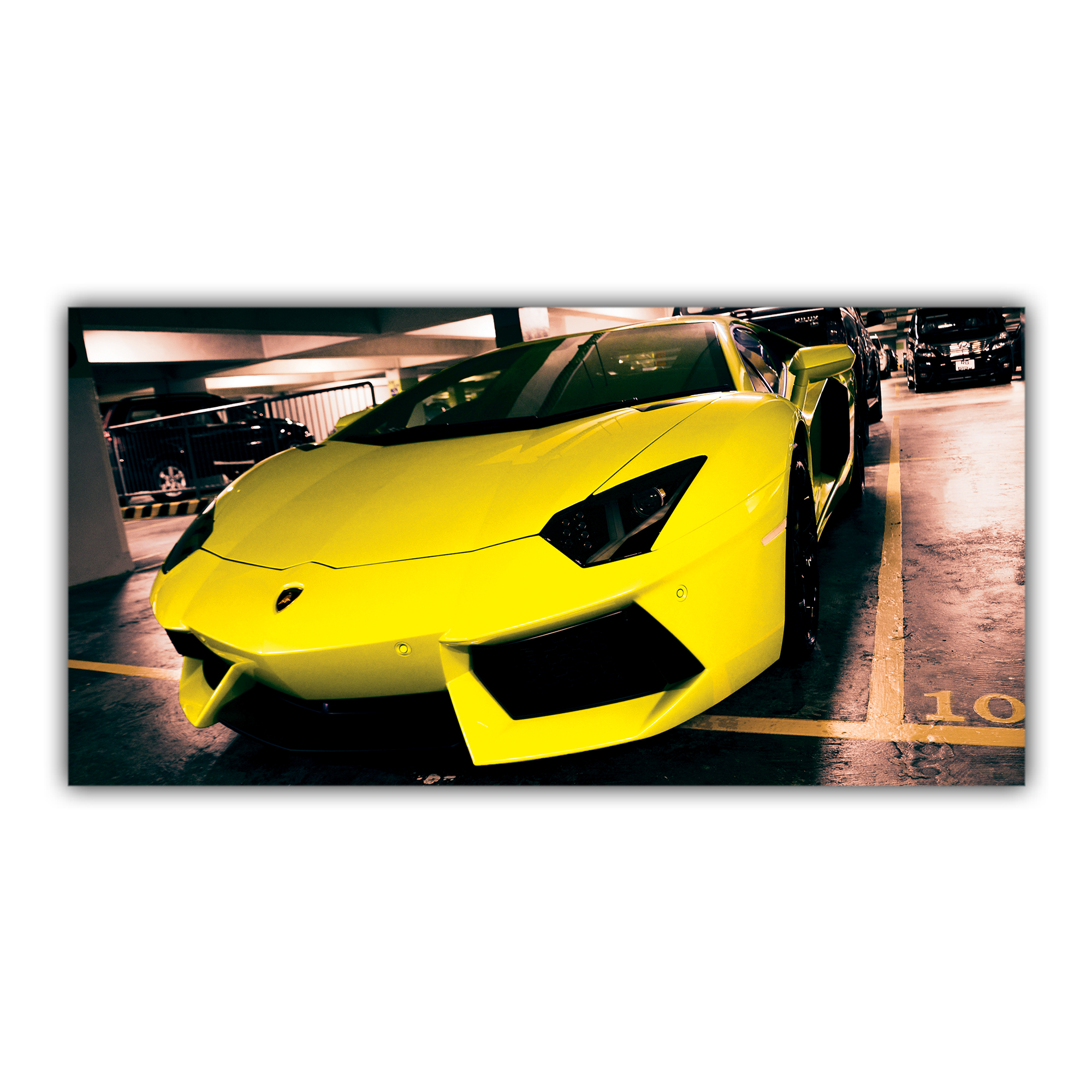 Lamborghini Aventador Jaune sport coupé