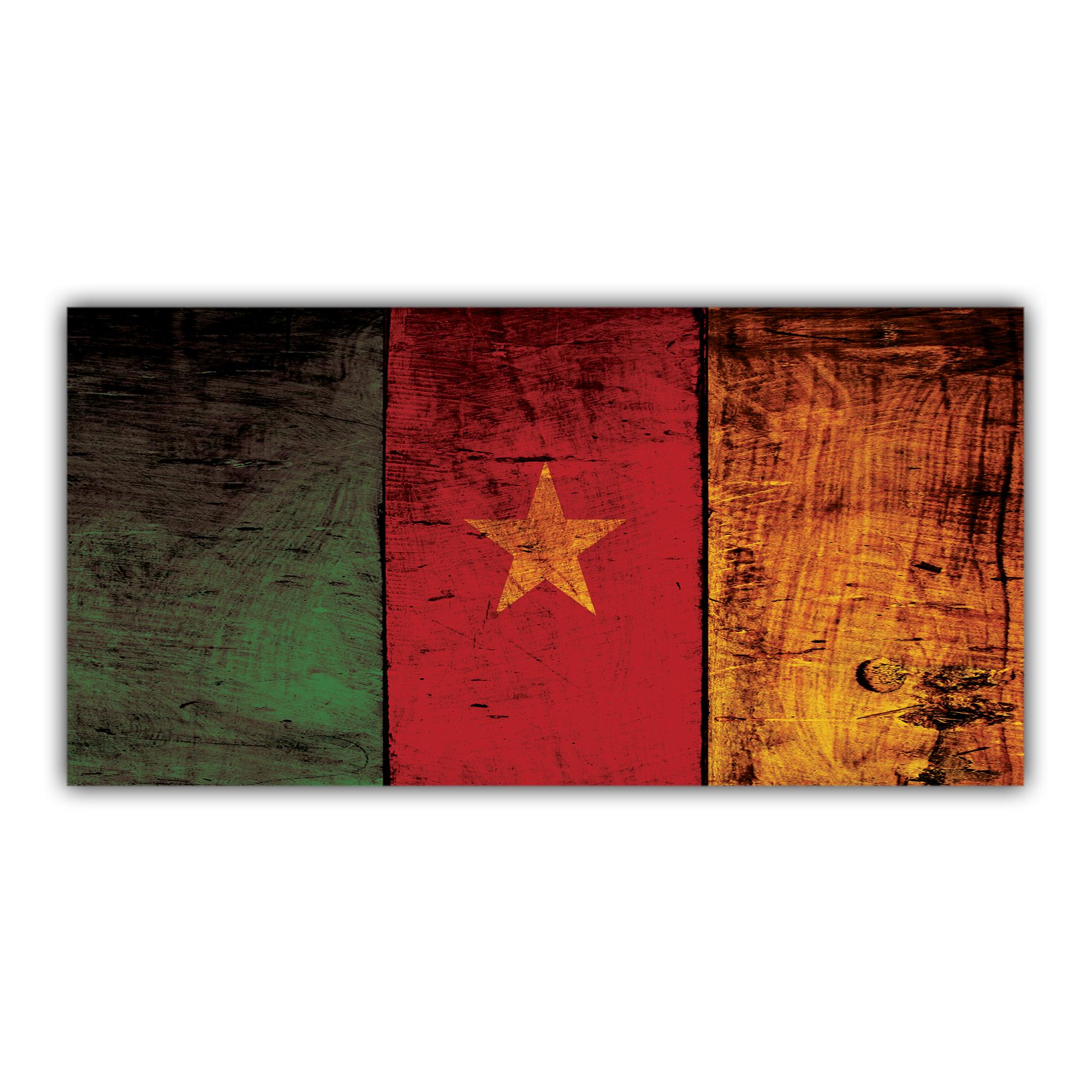 Drapeau du Cameroun Vieux Bois